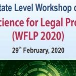 State Level Workshop on Forensic Science for Legal Professional (WFLP 2020)